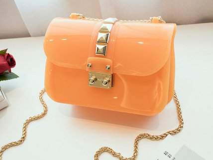 Designer Crossbody Jelly Bag- Orange