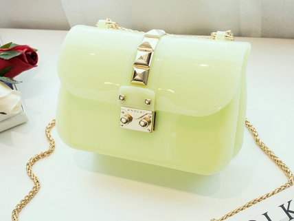 Designer Crossbody Jelly Bag - Green