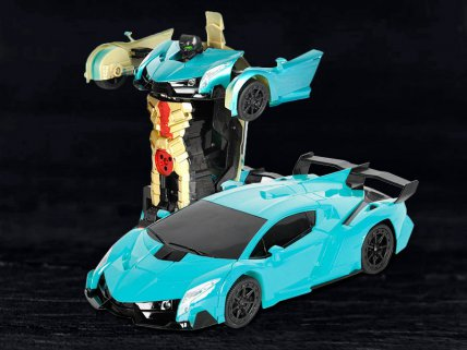 Lamborghini RC Transformers Toy Car - Blue