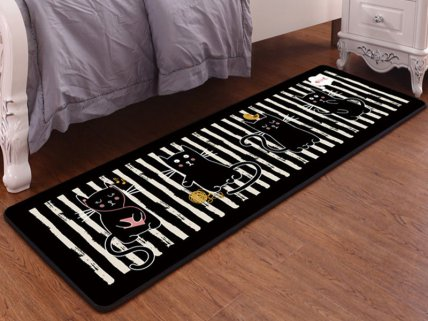 Kids Anti Slip Carpet Mat- 4 Kittens