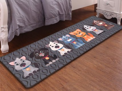 Kids Carpet Mat - 7 Puppies