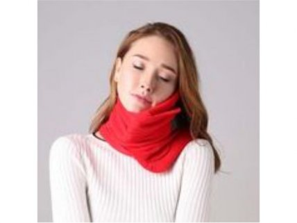 Soft Neck Support Travel Pillow--Red
