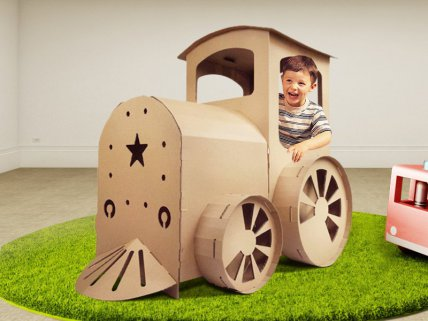 Corrugated Toy Train – For Kids