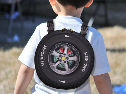 3D Design Car Tyre Bag - Black