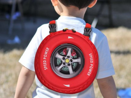 3D Design Car Tyre Bag - Red