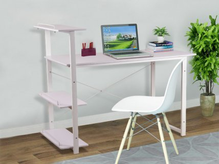 Modern Computer Desk with Shelves