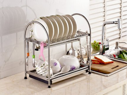 2 Tier Stainless Steel 304 Dish Rack