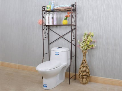 Washing Machine / Toilet Storage Rack - Black Gold