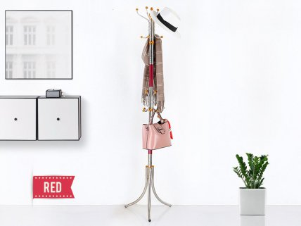 Stainless Steel Coat Stand- Red
