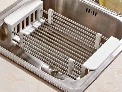 Stainless Steel Telescopic Sink Rack