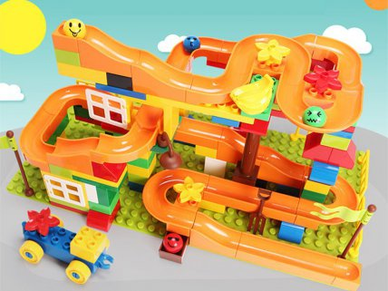 134pc Ball Race Track Building Blocks