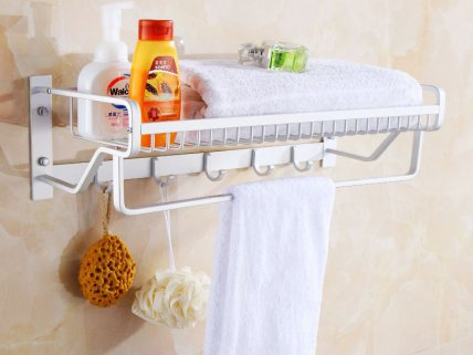 Wall Mounted Bathroom Shelf Shower Rack