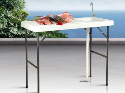 Portable Outdoor Table with Sink