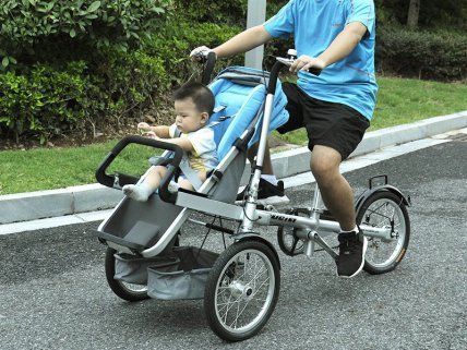 Foldable 3 in 1 Baby Bike Stroller