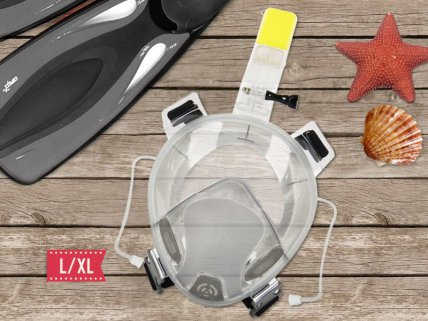 Free Breather Full Face Snorkel Mask- L/XL