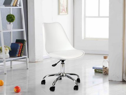2pc Swivel Chair with Wheels
