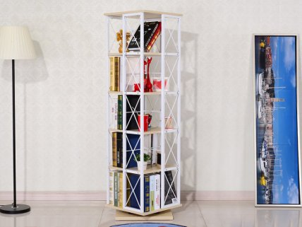 5 Level Rotating Tower Bookshelf