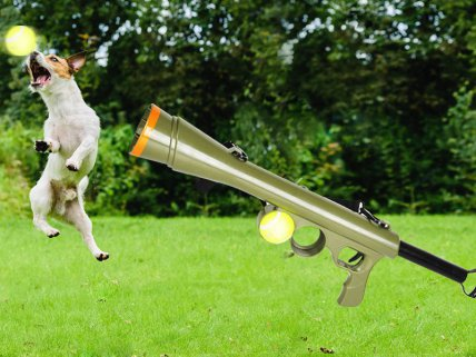 Dog Ball Thrower Tennis Ball Gun Launcher