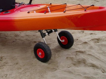 Aluminium Kayak Trolley Puncture-Proof Tyres