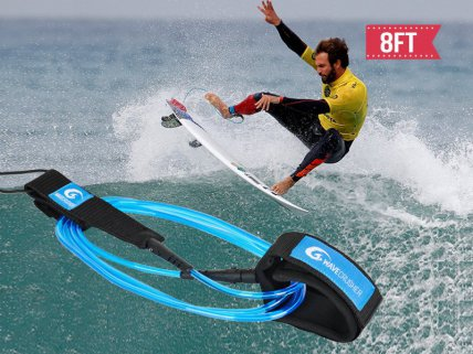 Surfboard SUP Board Leash 8ft 7mm (Straight)
