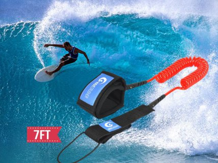 Surfboard SUP Board Leash 7ft 7mm (Coiled)