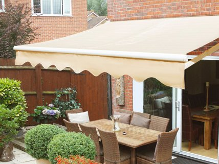 Retracting Sun Shade / Folding Awning - Beige