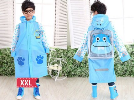 Kids Raincoat Blue- XXL