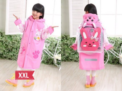 Kids Raincoat Pink - XXL