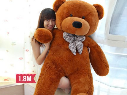 Teddy Bear - Dark Brown 180 cm