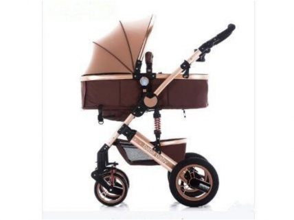 3 in 1 Stroller with Infant Capsule - Gold