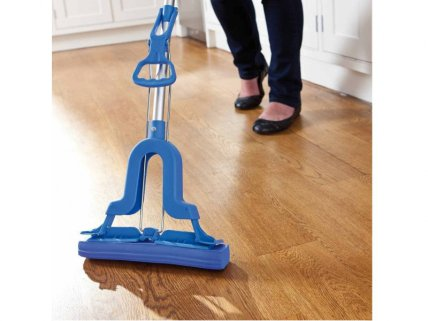 Self-Wringing Floor Cleaning Sponge Mop
