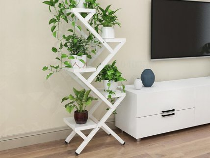 Z-Shaped Flower Stand