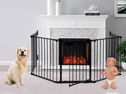 Fireplace Metal Safety Fence