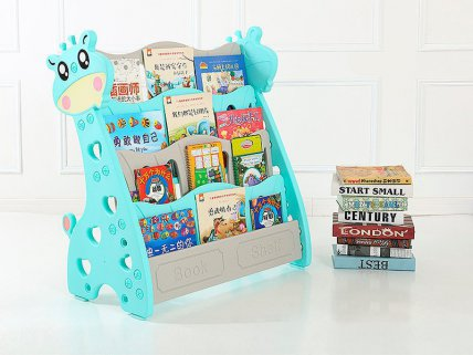 Kids Bookcase 4 Tier - Turquoise
