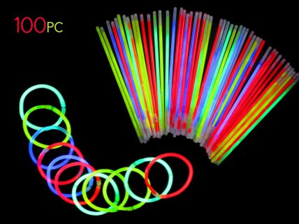 "100 of 8"" Glow Sticks"