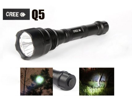 CREE Q5 200m Long Range Tactical Flashlight