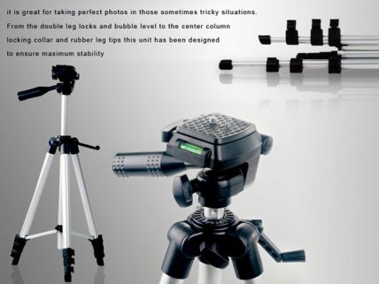 Video Camera/Digital Camera Aluminum Tripod