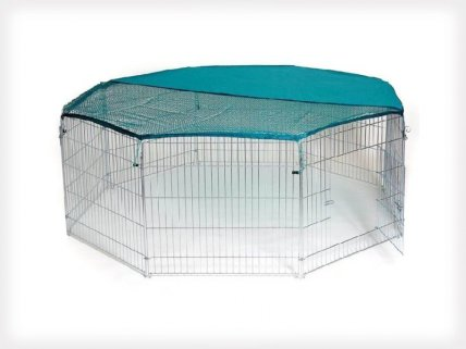 Large Pet Playpen with Cover 8pc