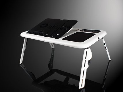 All in One Laptop-Desk Table with Cooler Pad