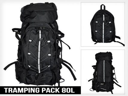 Tramping Travel Hiking Pack 80L