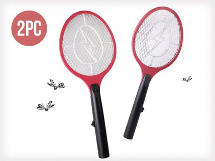 2 x Electronic Insect Swatter Fly Zapper