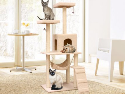Cat Tree House with Hammock
