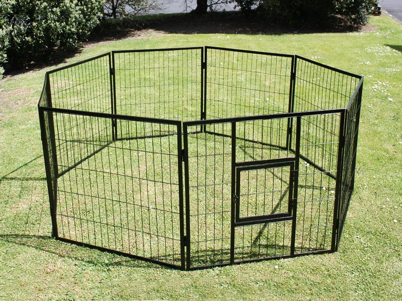 8pc Pet Playpen with Locking Door - XXL
