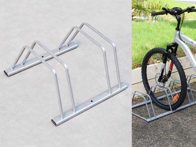 2-Slot Floor Mounted Bike-Stand