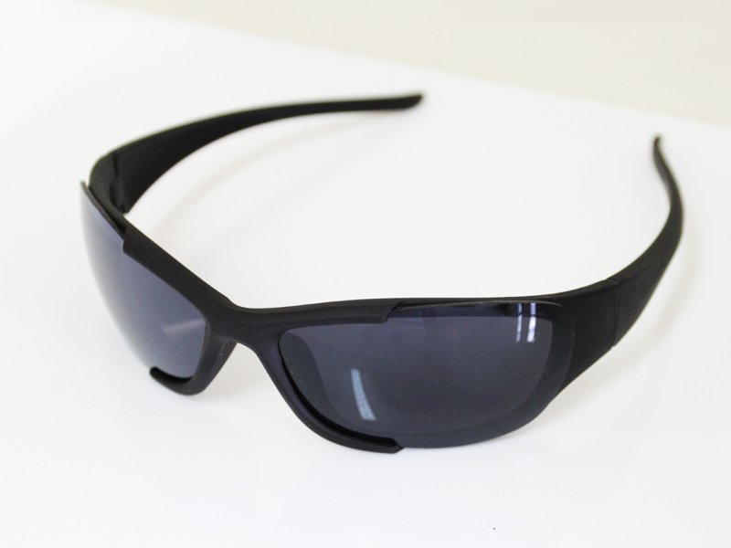 Sunglasses - Semi-Frame - Black