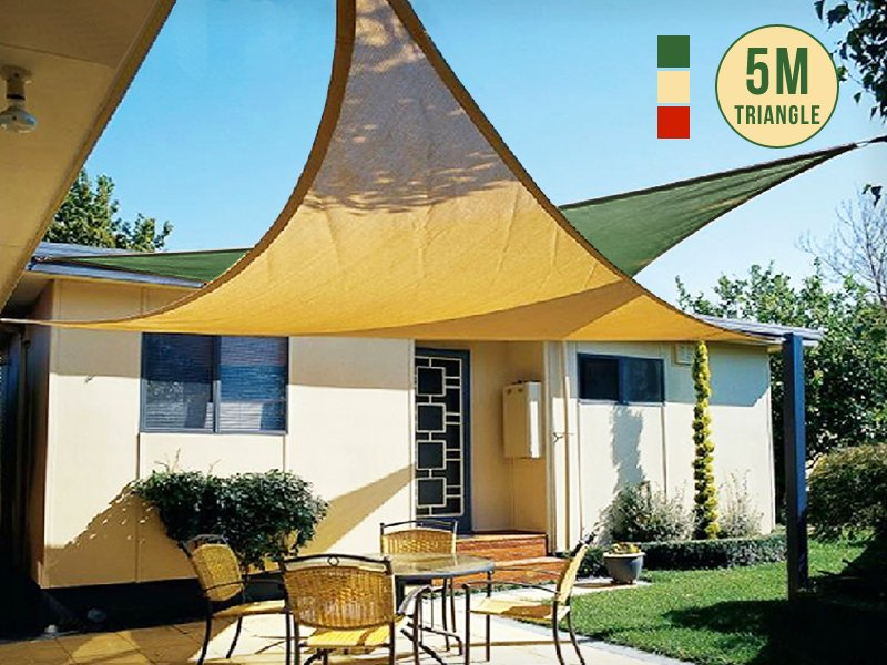 Sun Shade Sail Awning Triangle 5m Crazy Sales We