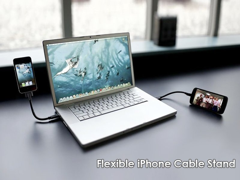 Flexible iPhone Cable Stand