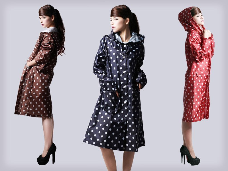 Retro-Style Polka Dot Rain Jacket @ Crazy Sales - We have the best ...