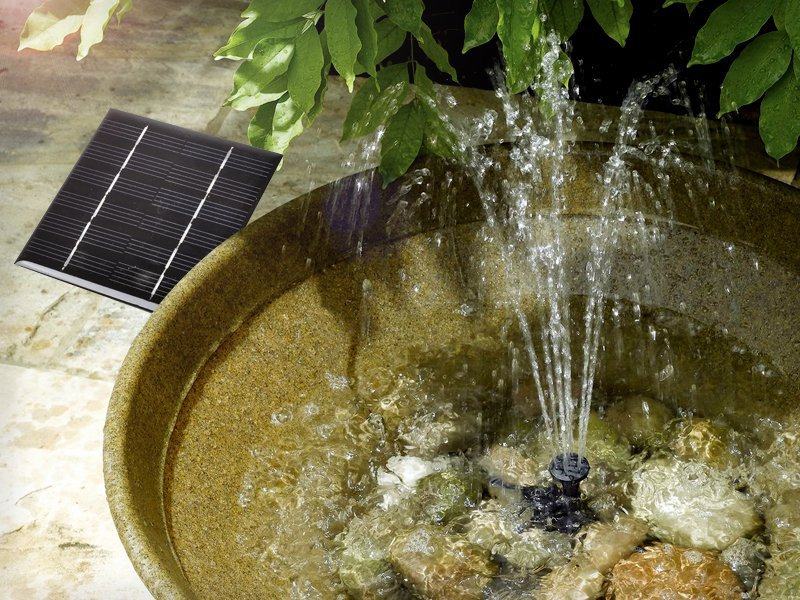1.02W Mini Solar Water Fountain
