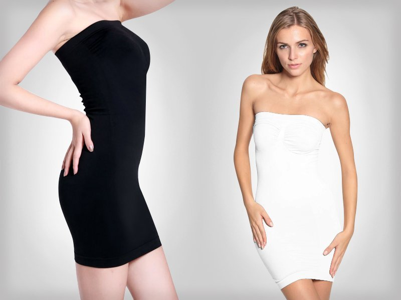 Women 39 s strapless body shaper dress crazy sales we for Wedding dress body shapers